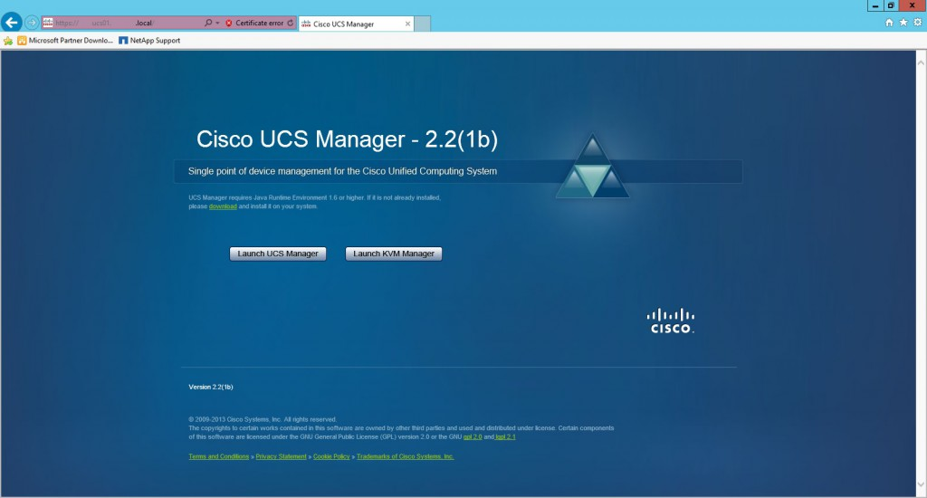 UCS Manager or KVM Manager