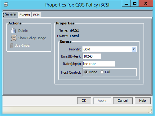 UCS Manager - QoS Policy iSCSI