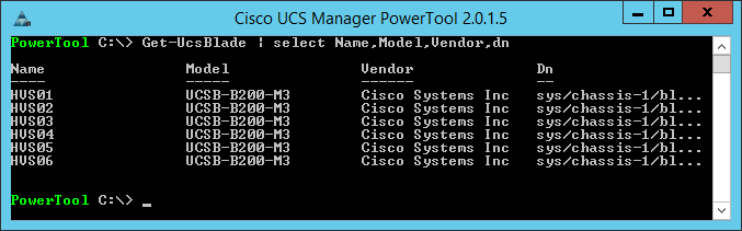 UCS Manager PowerTool - Get-UcsBlade
