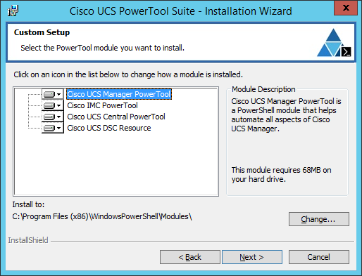 UCS PowerTool Suite - Custom Setup